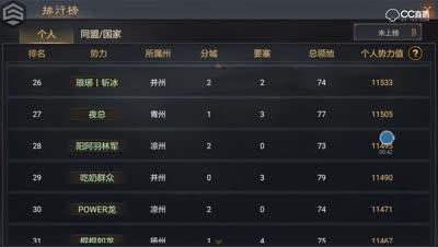 【千雪视频】率土之滨X057新赛季一周排行
